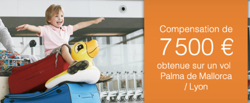 Août 2015 - Indemnisation du mois sur un vol retardé au départ de Palma de Mallorca