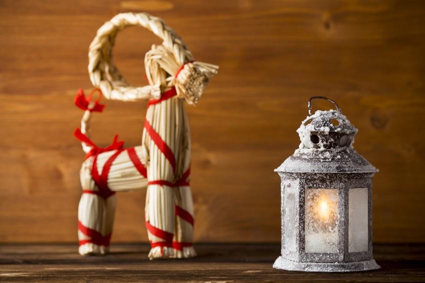 Une décoration typique du Noël suédois