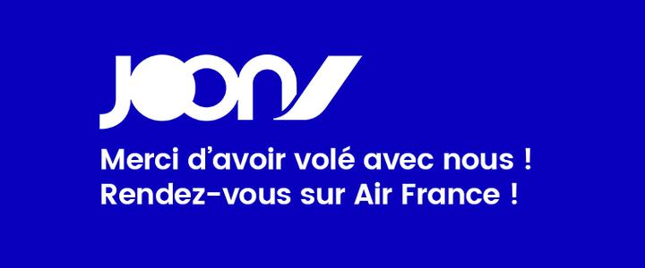 L'aventure Joon s'arrête... mais continue avec Air France