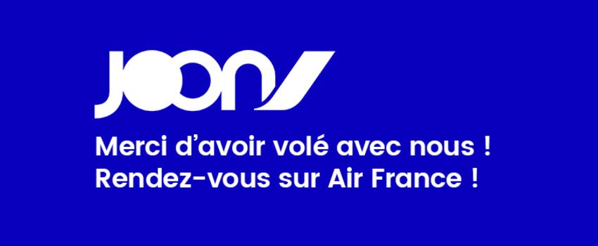 Joon : c'est officiellement fini pour la filiale d'Air France !