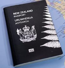 En Nouvelle-Zélande, le passeport est noir
